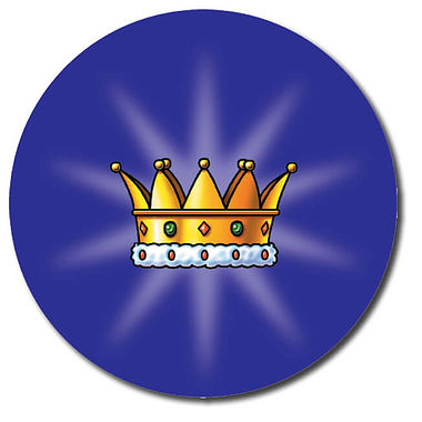 Personalised Crown Stickers (35 per sheet - 37mm)