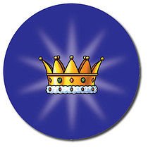 Sheet of 35 Personalised 37mm Crown Stickers