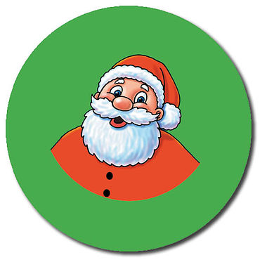 Personalised Santa Stickers (35 per sheet - 37mm)
