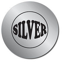 Silver Metallic Personalised Stickers 37mm Sheet of 35