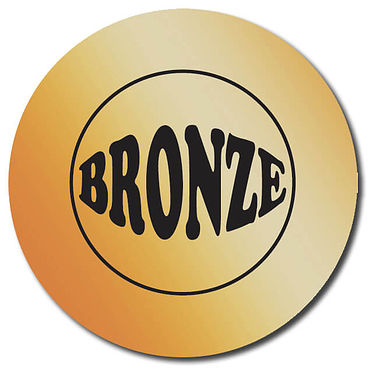 Personalised Bronze Metallic Stickers (35 per sheet - 37mm)