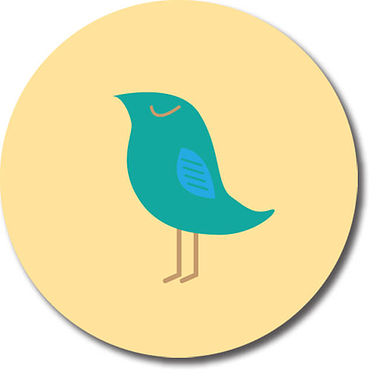 Personalised Teal Bird Stickers (35 per sheet - 37mm)