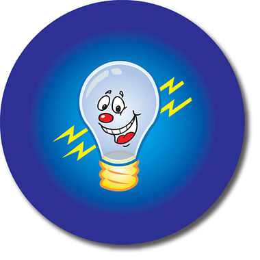 Personalised Light Bulb Stickers (35 per sheet - 37mm)