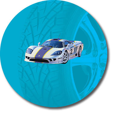 Personalised Car Stickers - Blue (35 per sheet - 37mm)