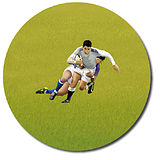 Customised Rugby Stickers (35 per sheet - 37mm)