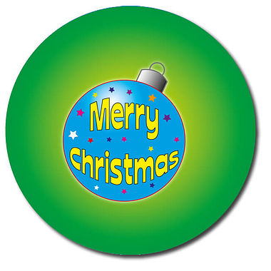 Personalised Bauble Stickers - Green (35 per sheet - 37mm)