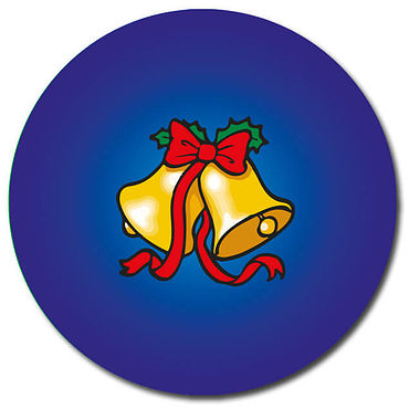 Personalised Bells Stickers - Blue (35 per sheet - 37mm)