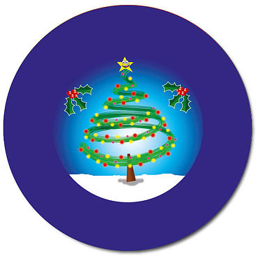 Personalised Christmas Tree & Snow Stickers (35 per sheet - 37mm)