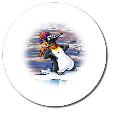 Personalised Penguin Stickers (35 per sheet - 37mm)