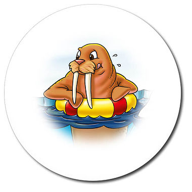 Personalised Walrus Stickers (35 per sheet - 37mm)