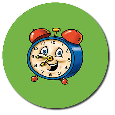 Personalised Clock Stickers (35 per sheet - 37mm)