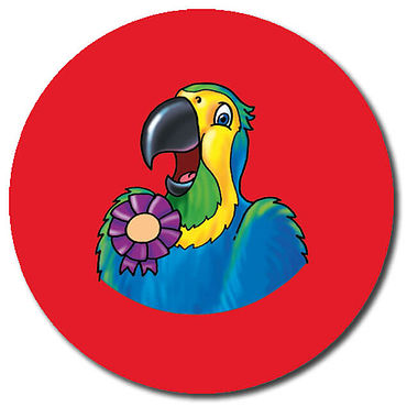 Personalised Parrot Stickers (35 per sheet - 37mm)