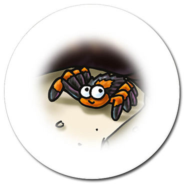 Personalised Spider Stickers (35 per sheet - 37mm)