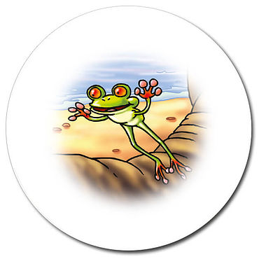 Personalised Tree Frog Stickers (35 per sheet - 37mm)