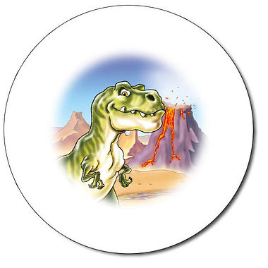 Personalised T Rex Stickers (35 per sheet - 37mm)