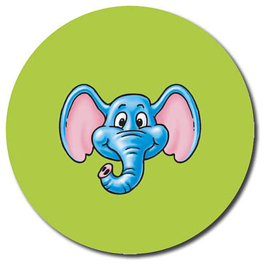 Personalised Elephant Stickers (35 per sheet - 37mm)