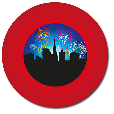 Personalised Firework Display Stickers (35 per sheet - 37mm)