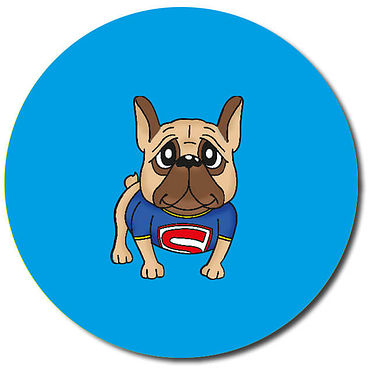 Personalised Superhero Dog Stickers (35 per sheet - 37mm)