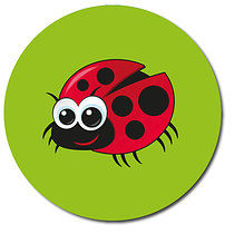 Lady Bug Personalised Stickers 35 x 37mm