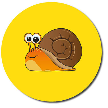 Personalised Snail Stickers (35 per sheet - 37mm)