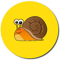 Snail Personalised Stickers 35 x 37mm