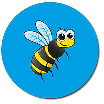 Bee Personalised Stickers 35 x 37mm
