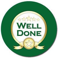 Well Done Green Personalised Stickers 35 x 37mm