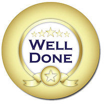 Well Done Gold Personalised Stickers 35 x 37mm