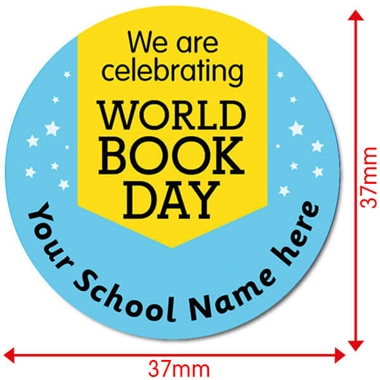Personalised World Book Day Stickers (35 per sheet - 37mm)