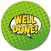 Well Done Wording Personalised Stickers 35 x 37mm