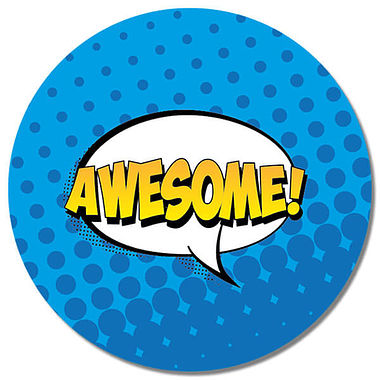 Personalised Awesome Stickers (35 per sheet - 37mm)