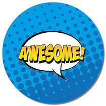 Awesome Wording Personalised Stickers 35 x 37mm