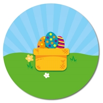 Personalised Easter Egg Basket Stickers (35 x 37mm)