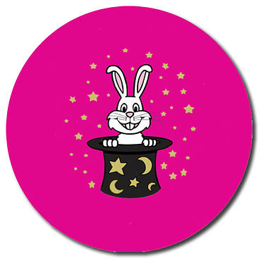 Personalised Magical Bunny Stickers (35 per sheet - 37mm)