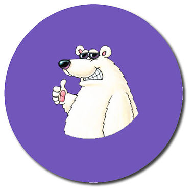 Personalised Polar Bear Stickers (35 per sheet - 37mm)