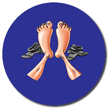 Personalised Feet Stickers (35 per sheet - 37mm)