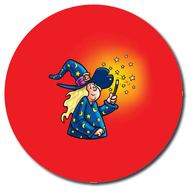Personalised Witch Stickers (35 per sheet - 37mm)