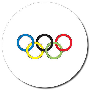 Personalised Sports Rings Stickers (35 per sheet - 37mm)