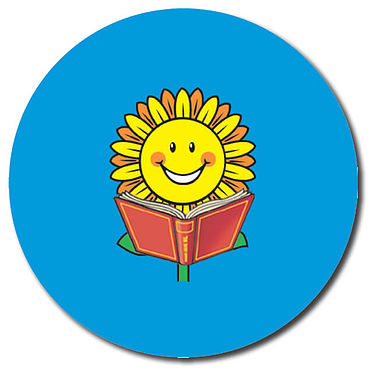 Personalised Reading Stickers - Sunflower (35 per sheet - 37mm)