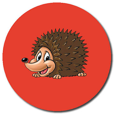 Personalised Hedgehog Stickers (35 per sheet - 37mm)
