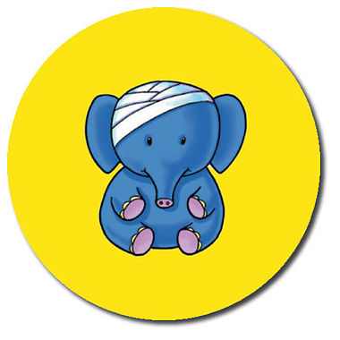 Personalised Accident Elephant Stickers (35 per sheet - 37mm)
