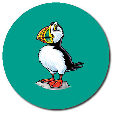 Personalised Puffin Stickers (35 per sheet - 37mm)