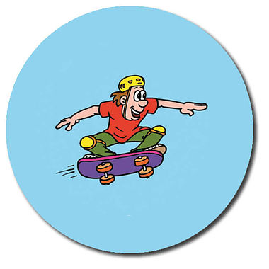 Personalised Skateboarder Stickers (35 per sheet - 37mm)
