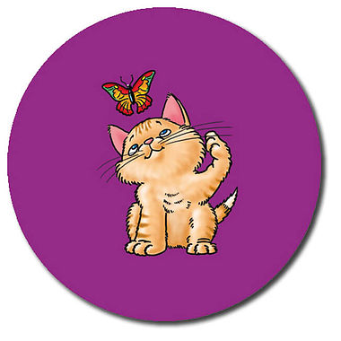 Personalised Kitten Stickers (35 per sheet - 37mm)
