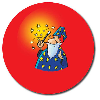 Personalised Wizard Stickers (35 per sheet - 37mm)