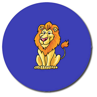 Personalised Lion Stickers (35 per sheet - 37mm)