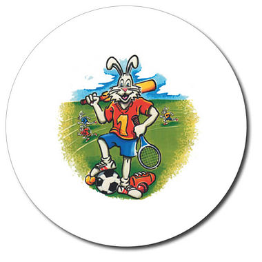 Personalised Sports Stickers - Bunny (35 per sheet - 37mm)
