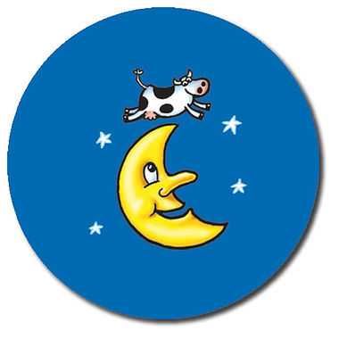 Personalised Cow & Moon Stickers (35 per sheet - 37mm)