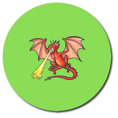 Personalised Dragon Stickers (35 per sheet - 37mm)