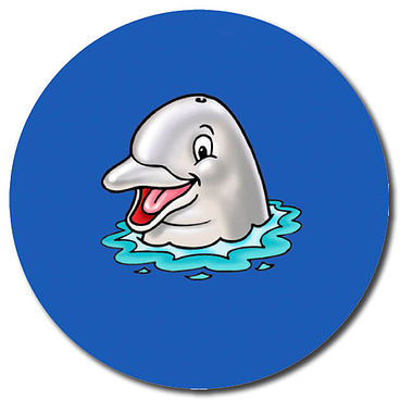 Personalised Dolphin Stickers (35 per sheet - 37mm)